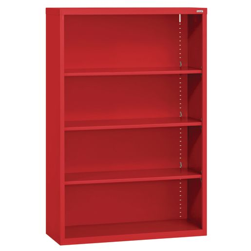 Elite Welded Bookcase - 3 Shelves - Red