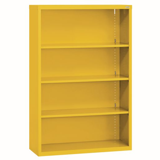 Elite Welded Bookcase - 3 Shelves - Yellow
