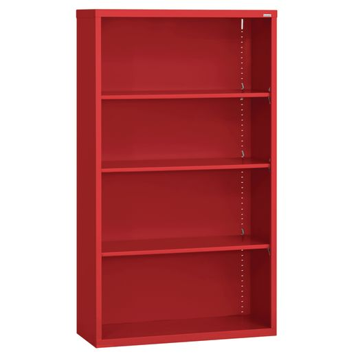 Elite Welded Bookcase - 4 Shelves - Red
