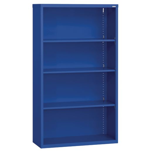 Elite Welded Bookcase - 4 Shelves - Blue