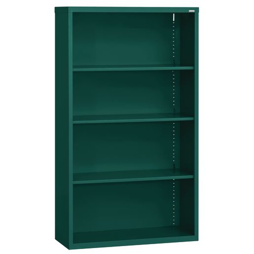 Elite Welded Bookcase - 4 Shelves - Forest Green