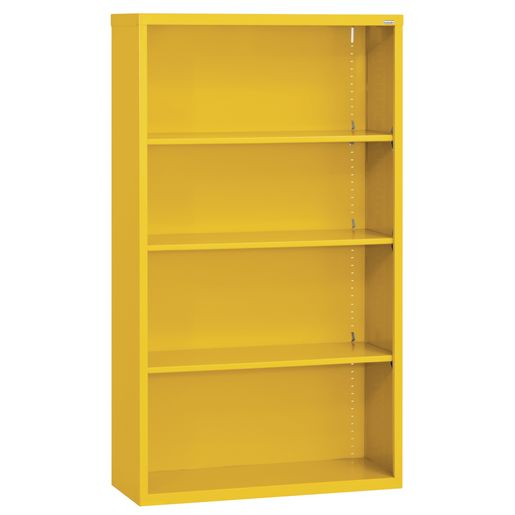 Elite Welded Bookcase - 4 Shelves - Yellow
