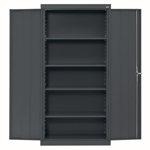Large Locking Metal Cabinet - Charcoal