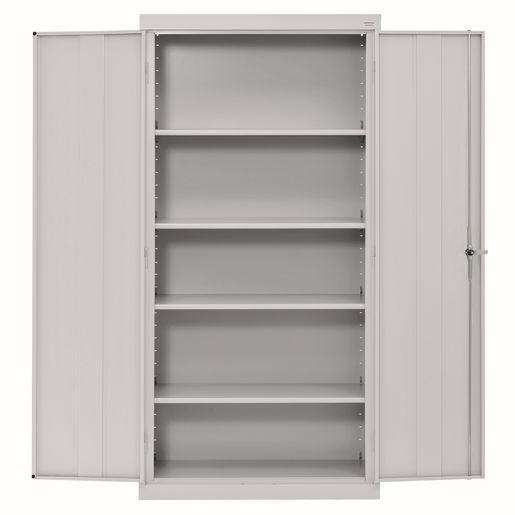 Large Locking Metal Cabinet - Dove Grey