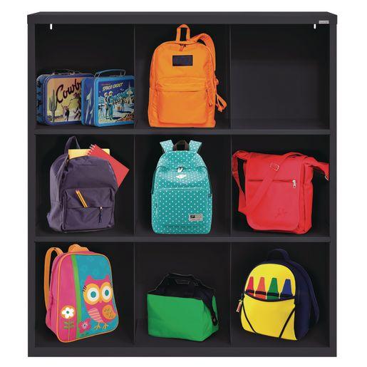 Cubbie Storage Organizer - 9 Cubbies - Black