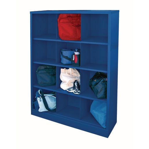 Cubbie Storage Organizer - 12 Cubbies - Blue