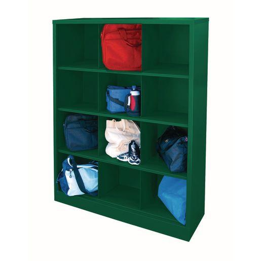 Cubbie Storage Organizer - 12 Cubbies - Forest Green