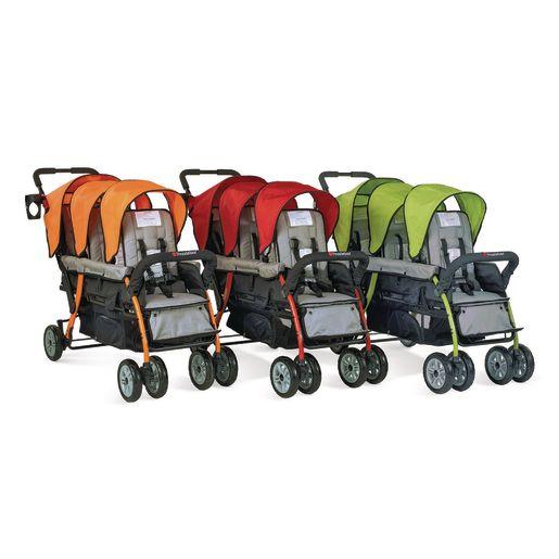 Trio Sport™ 3-Passenger Stroller - Orange