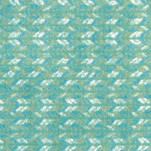 "Braided Print Carpet - Rectangle 5'4"" x 7'8"" - Teal"