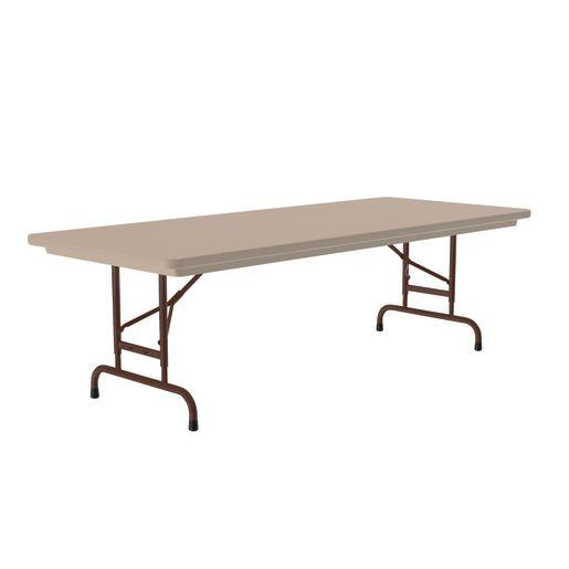 Plastic Top Folding Table - Mocha
