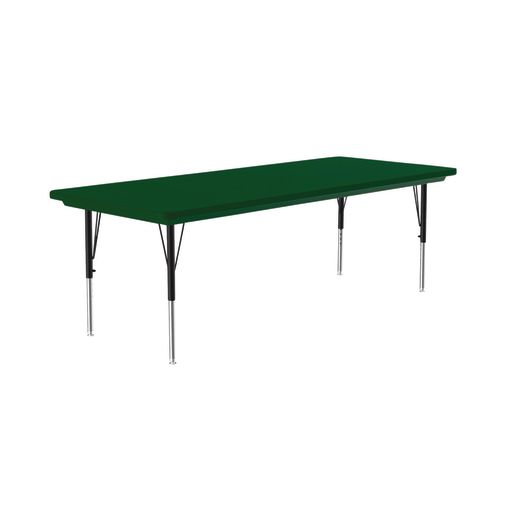 Lightweight Activity Table 30 x 60 Rectangle, Adjustable Leg - Green