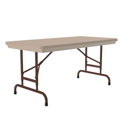 "24"" x 48"" Folding Table, 17""-27""H - Mocha"