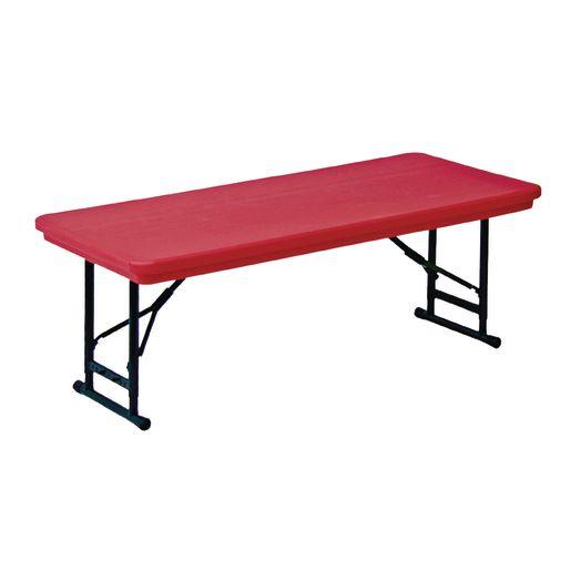 "30"" x 60"" Folding Table, 17""-27""H - Mocha"