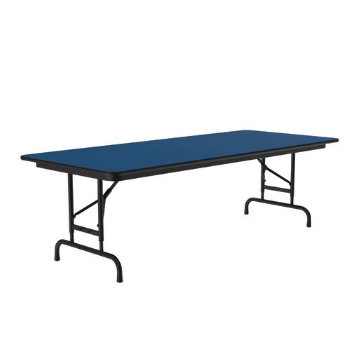 "Adjustable-Height Folding Table, 30"" x 60"" - Blue"