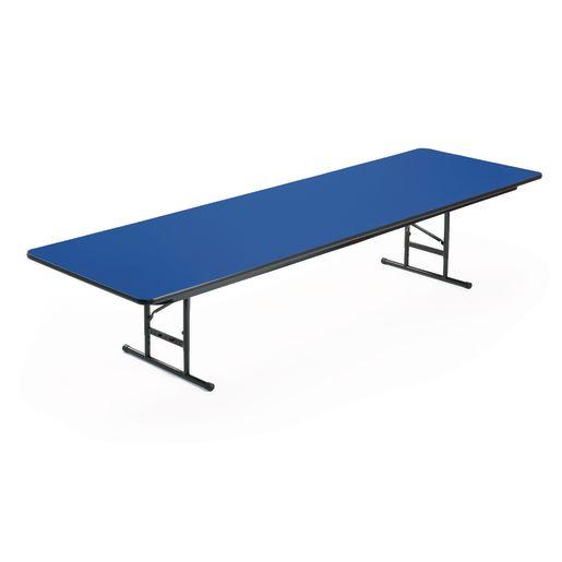 "Adjustable-Height Folding Table, 30"" x 96"" - Blue"