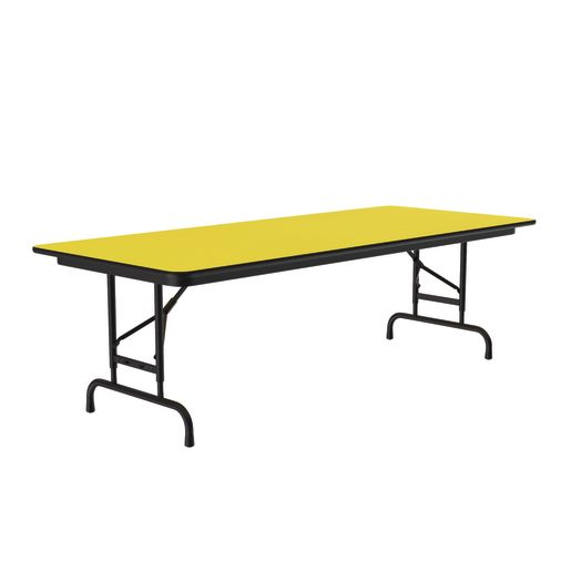 "Adjustable-Height Folding Table, 30"" x 96"" - Yellow"