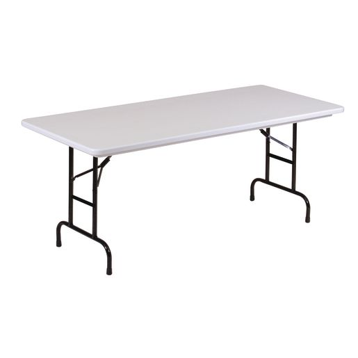 "Anti-Microbial 30"" x 72"" Adjustable Height Folding Table - 17"" - 27""H"