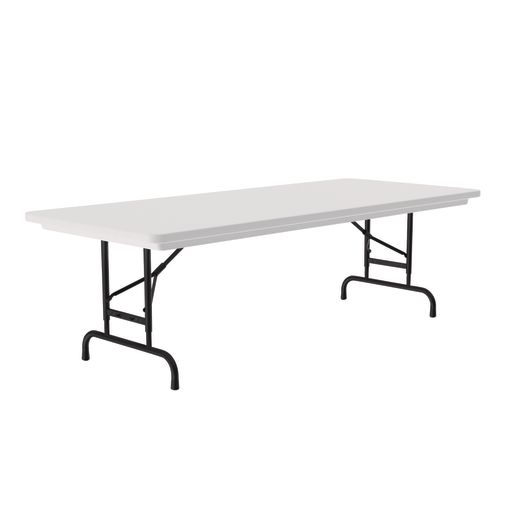 "Anti-Microbial 30"" x 72"" Adjustable Height Folding Table - 22"" - 32""H"