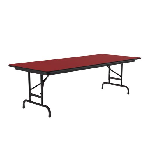 """Adjustable-Height Folding Table, 30"""" x 72"""" - Red"""