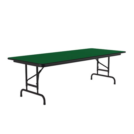 """Adjustable-Height Folding Table, 30"""" x 72"""" - Green"""