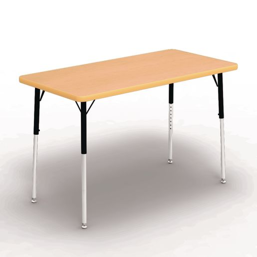 "24"" x 48"" Rectangle Banded Table 22""-30""H - Maple / Squash"