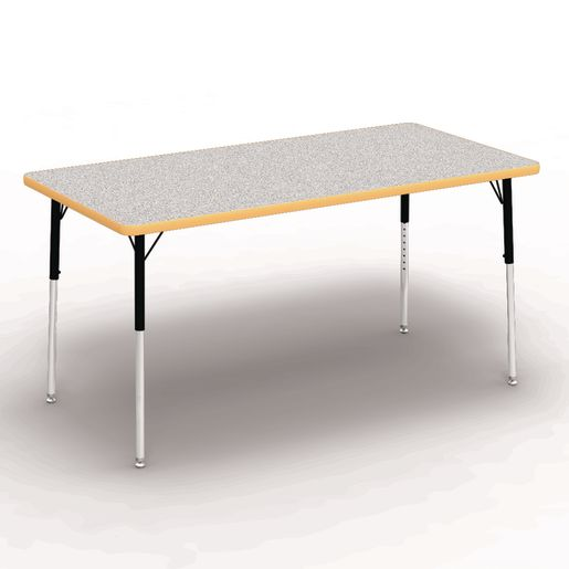 "30"" x 60"" Rectangle Banded Tables 22""-30""H - Gray / Squash"