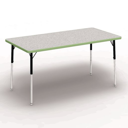 """30"""" x 60"""" Rectangle Banded Tables 22""""-30""""H - Gray / Apple"""