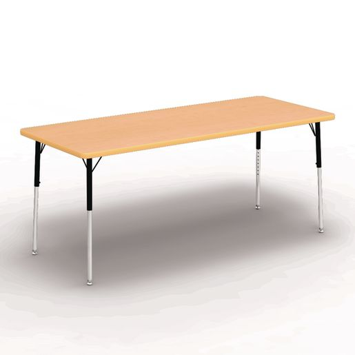 "30"" x 72"" Rectangle Banded Table 22""-30""H - Maple / Squash"