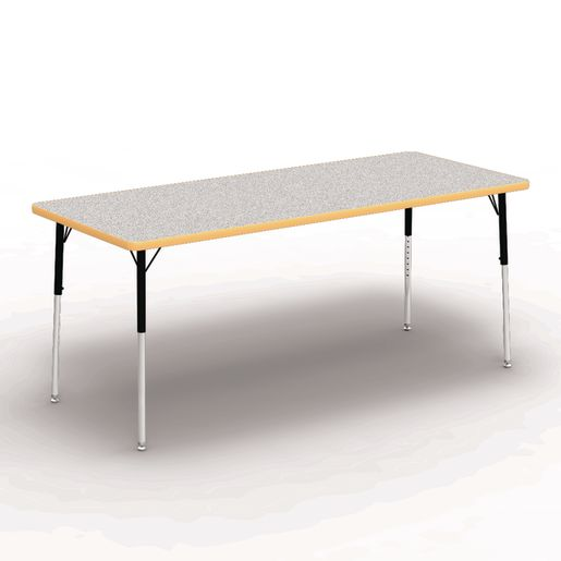 """30"""" x 72"""" Rectangle Banded Table 22""""-30""""H - Gray / Squash"""