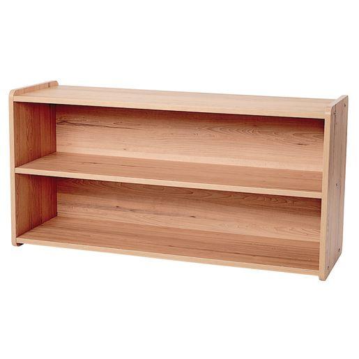 """2-Shelf Storage Unit, 24""""H - Natural Alder, Assembled"""