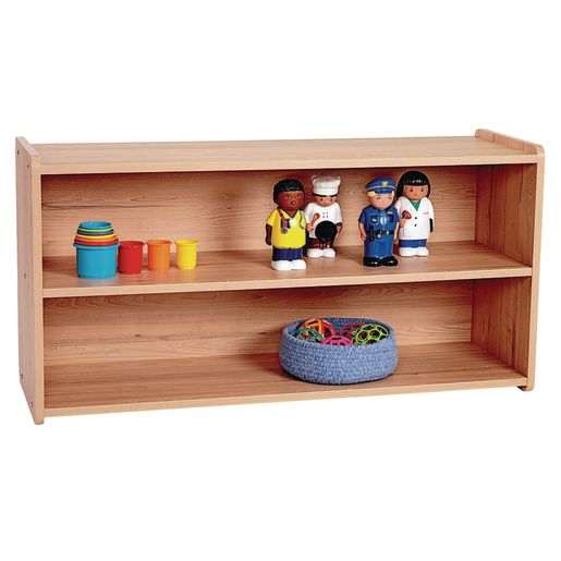 "2-Shelf Storage Unit, 24""H - Natural Alder, Assembly Required"