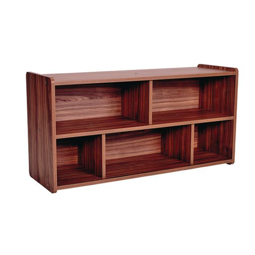 "2-Shelf Storage Unit, 24""H - Natural Walnut, Assembly Required"