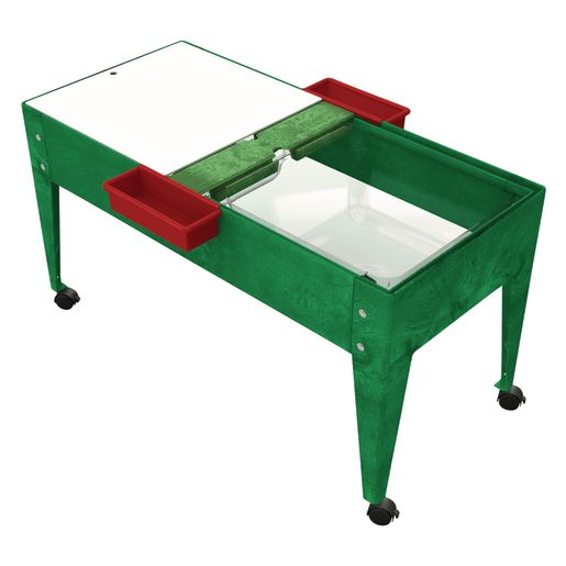Double-Well Sand and Water Activity Table with Clear Liner - Green