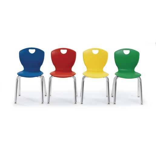 """16"""" Ovation Stack Chairs S/5 - Red"""