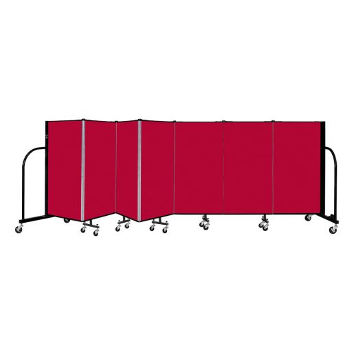 """Portable Room Divider 13'1"""" x 4' - Red"""