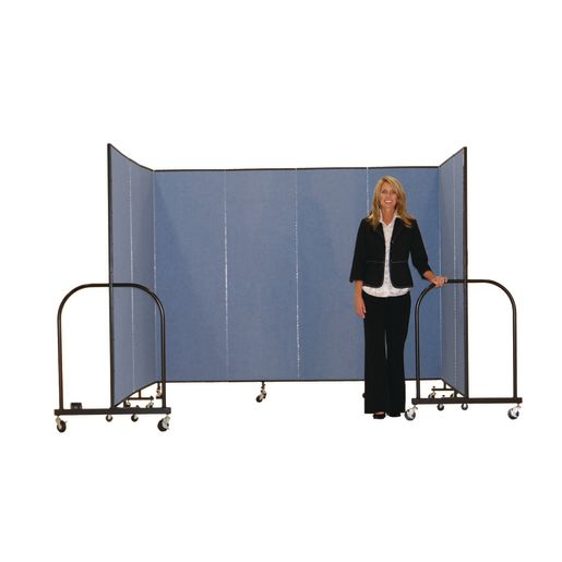 "Portable Room Divider 16'9"" x 6'8"" - Stone"