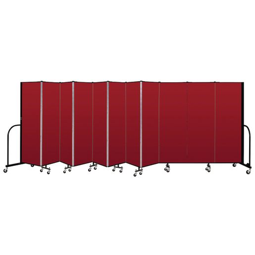 "Portable Room Divider 20'5"" x 6' - Red"