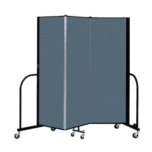 "Portable Room Divider 5'9"" x 6' - Marine Blue"