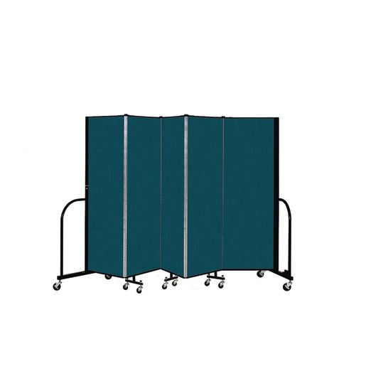 "Portable Room Divider 9'5"" x 6' - Marine Blue"