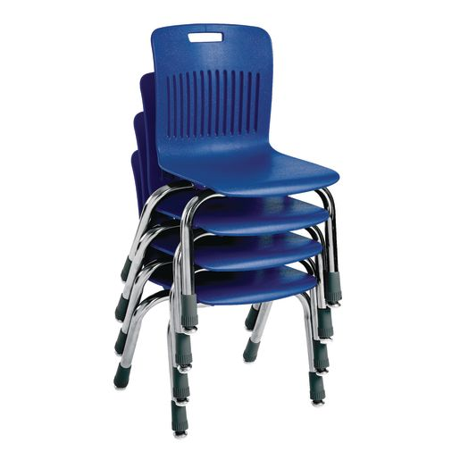 "Analogy Chairs 12""H Set of 5 - Blue"