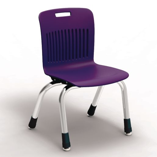 "Analogy Chairs 12""H Set of 5 - Purple"