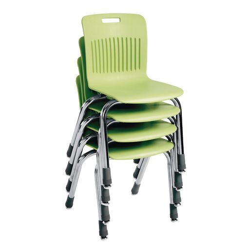 "Analogy Chairs 14""H Set of 5 - Apple Green"