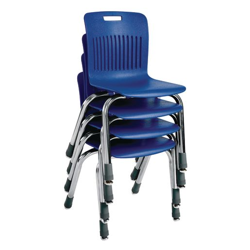 """Analogy Chairs 14""""H Set of 5 - Blue"""