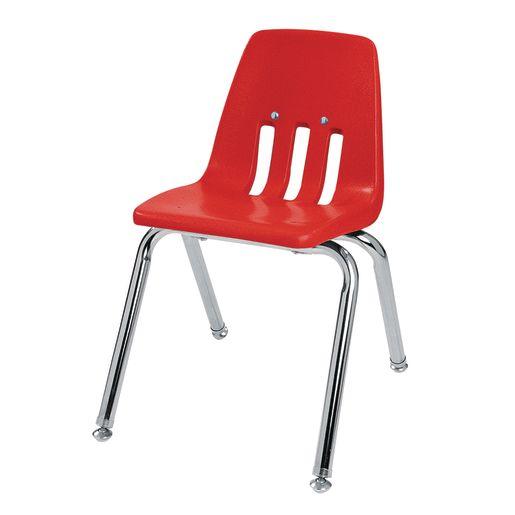 """18"""" Virco 9000 Chair w/Chrome Legs - Red"""
