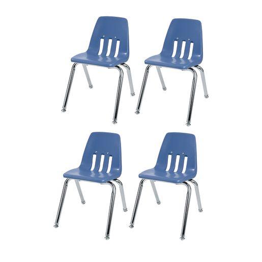 "14"" Virco 9000 Chair w/Chrome Legs S/4 -  Sky Blue"