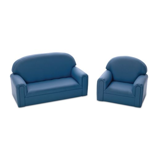 Enviro-Child  Toddler Sofa and Chair Set - Blue