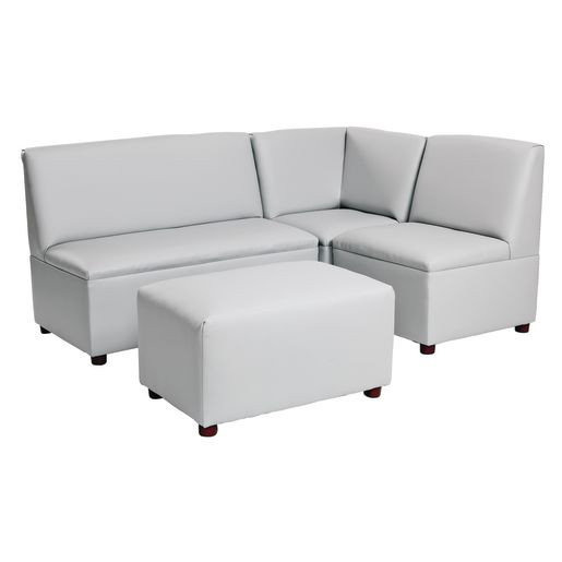 Modern Child Enviro 4 Piece Sectional Set - Gray