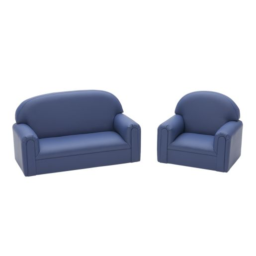 Toddler Sofa and Chair Set - Blue