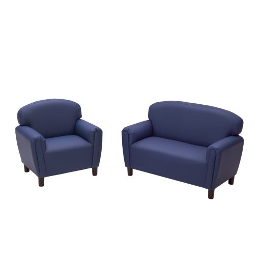 Preschool Sofa and Chair Set - Blue