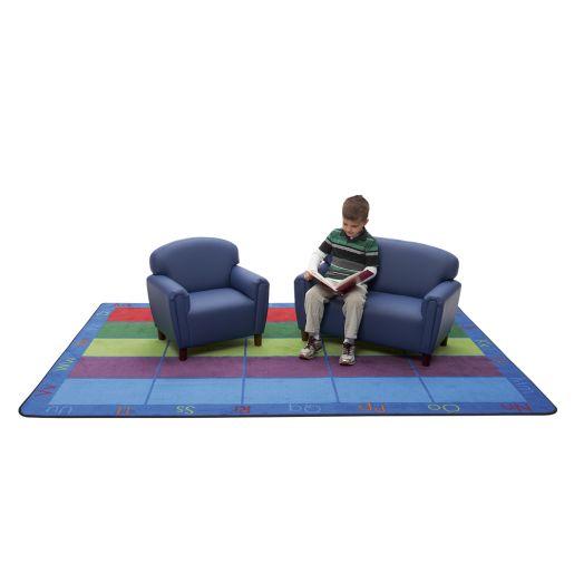 Preschool Sofa and Chair Set - Blue